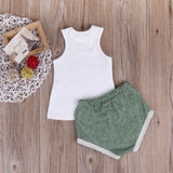 Leafy Beach Sleeveless T-Shirt and Short Pants Set - Clothing Sets - baby-petite