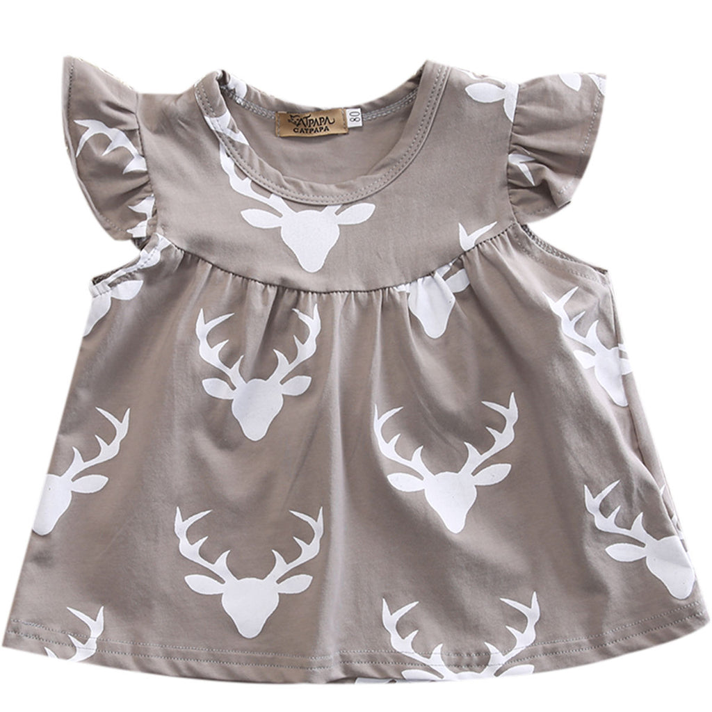 Dusty Dusk Deer Dress