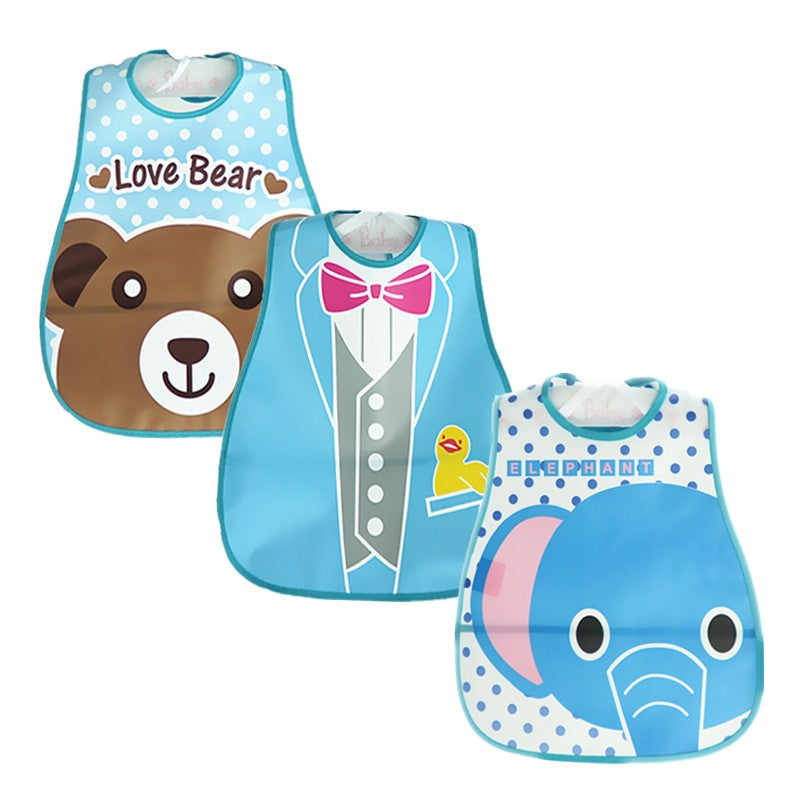 Loving Animal Zoo Full Bib Set (3 Piece Set) - Bibs - baby-petite