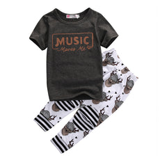 Music Moves Me T-Shirt and Long Pants Set