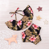 Wilf Forest Hibiscus Off Shoulder Top and Shorts Set - Clothing Sets - baby-petite