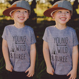 Young Wild And Three Tent Casual Cotton T-Shirt - Tops - baby-petite