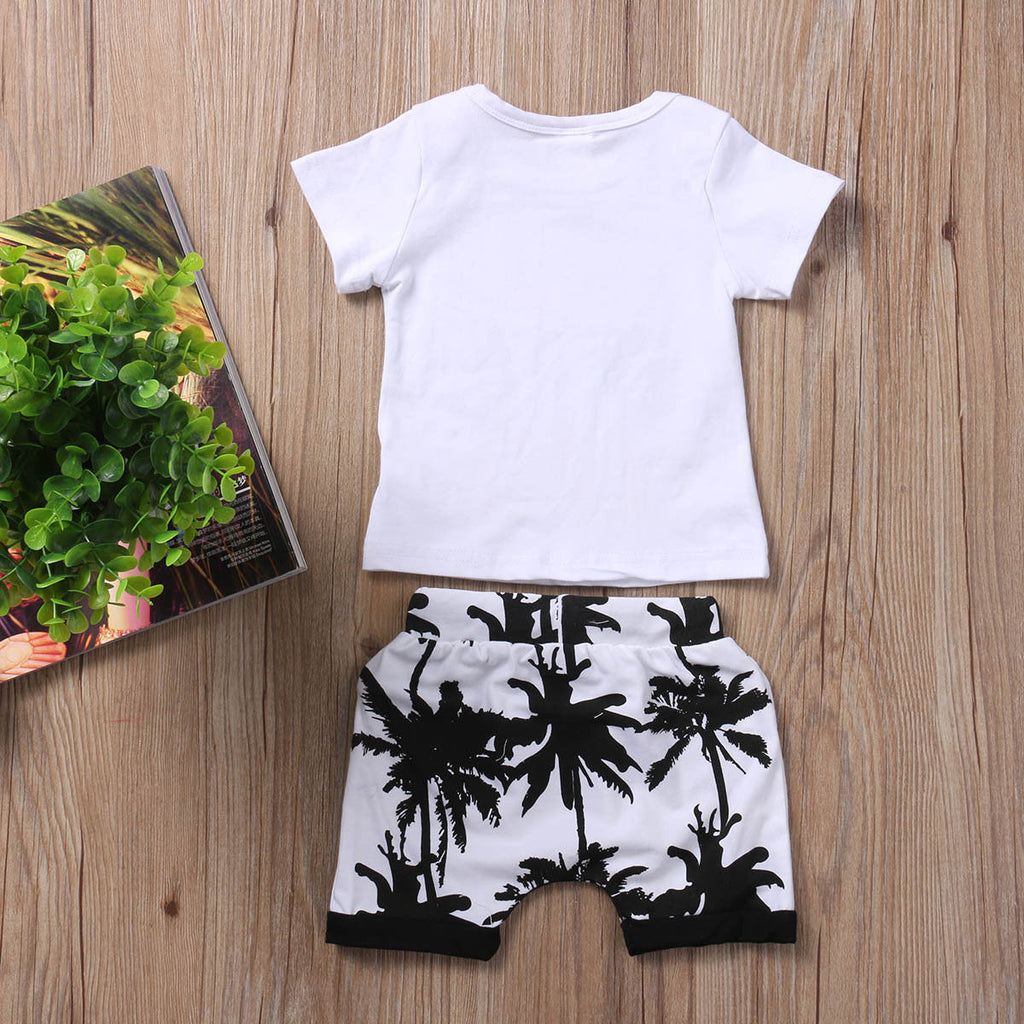 Shady Beach T-Shirt and Short Pants Set - Clothing Sets - baby-petite