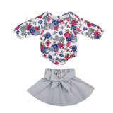 Morning Garden Dew Romper and Skirt Set - Clothing Sets - baby-petite