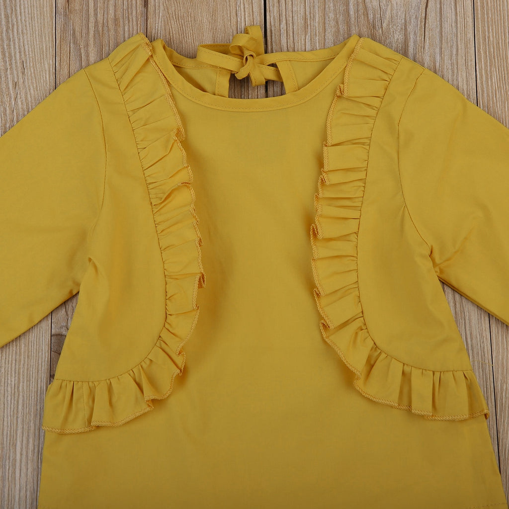 Vintage Ruffle Long Sleeve Blouse Top