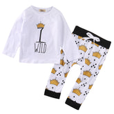 Wild Crown T-Shirt and Long Pants Set