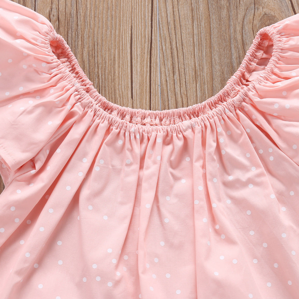 Pink Amaryllis Floral Ruffle Top and Shorts Set - Clothing Sets - baby-petite