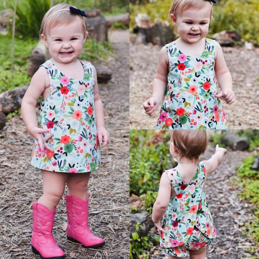 Teal Floral Ferns Top and Shorts Set - Clothing Sets - baby-petite