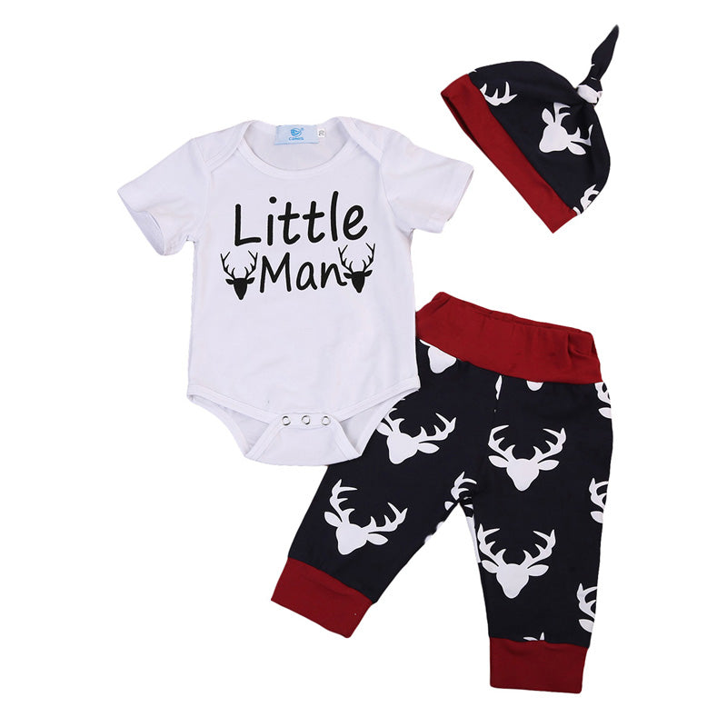 Little Man Deer Clothing Set (3 Piece Set) - Clothing Sets - baby-petite