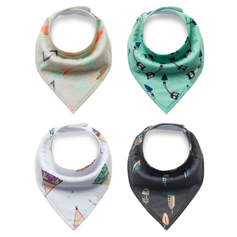Tribal Camp Bandana Bib (4 Piece Set) - Bibs - baby-petite