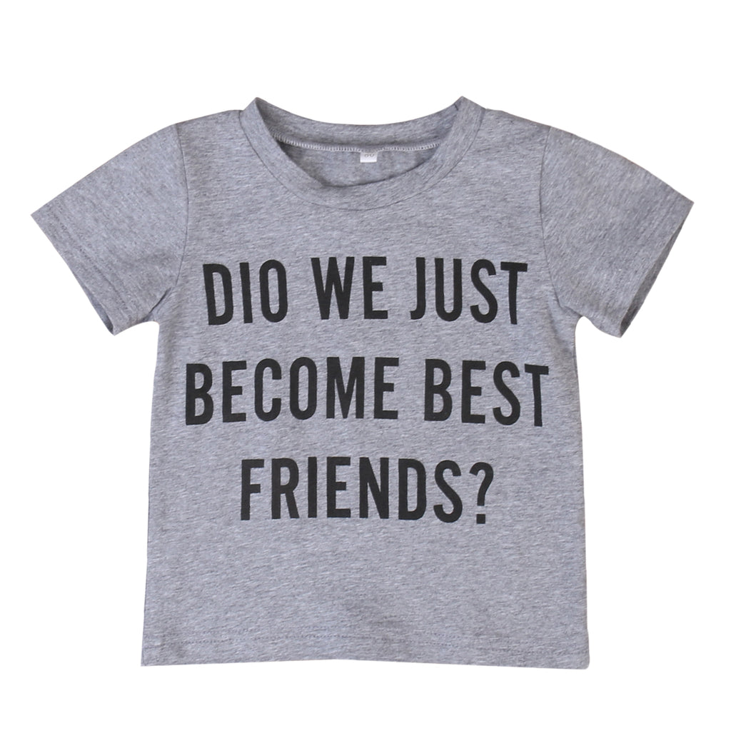 Did We Just Become Best Friends? Cotton T-Shirt - Tops - baby-petite