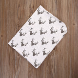 Polka Deer Swaddle Blanket with Headband - Swaddle Blankets - baby-petite