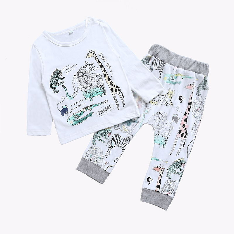 My Animal Friends T-Shirt and Long Pants Set