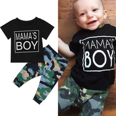 Mama's Boy Camouflage T-Shirt and Long Pants Set