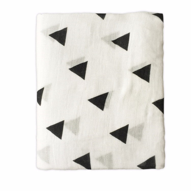 Geometric Triangles Swaddle Blanket - Swaddle Blankets - baby-petite