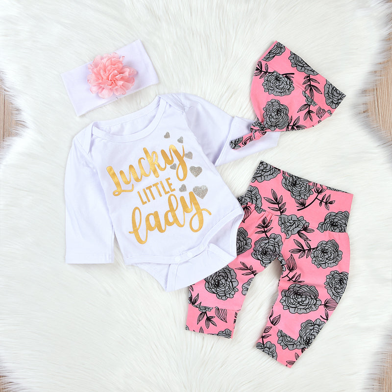 Lucky Little Lade Clothing Set (4 Piece Set) - Clothing Sets - baby-petite