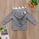 Shark Face Hooded Sweat Shirt - Sweaters & Hoodies - baby-petite