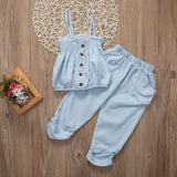 Breezy Rattle Tank Top and Long Pants Set - Clothing Sets - baby-petite