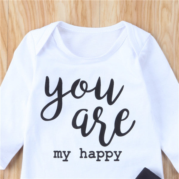 You Are My Happy Floral T-Shirt and Long Pants Set - Clothing Sets - baby-petite