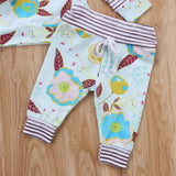 Earthy Blossom Striped Hoodie and Long Pants Set - Clothing Sets - baby-petite