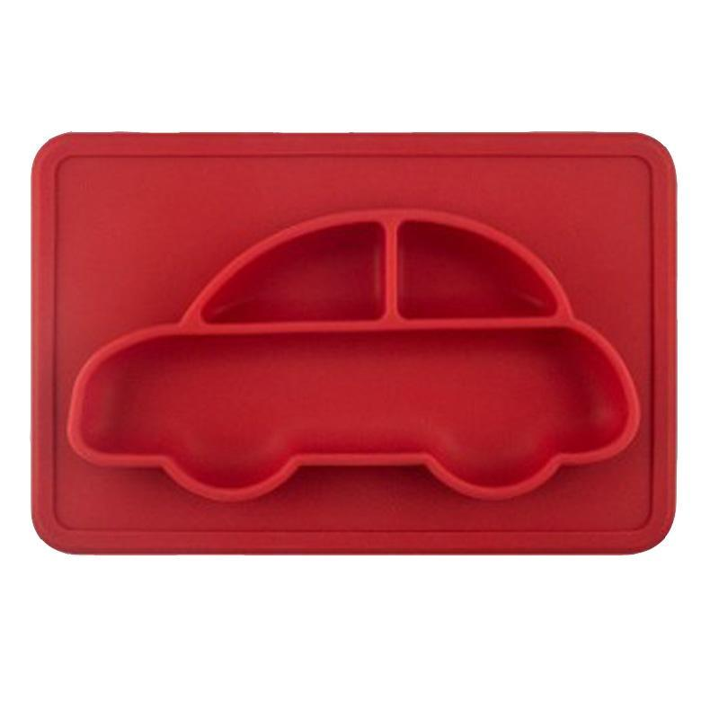 High Grade Silicon Race Car Anti-Slip Baby Plate - Tableware - baby-petite