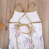 Prism Unicorn Golden Strap Swimsuit - Swimsuits - baby-petite