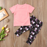 Be A Unicorn Heart Pink T-Shirt and Long Pant Set - Clothing Sets - baby-petite