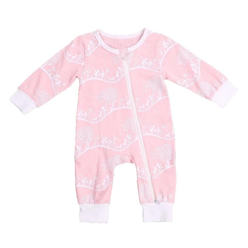 Pink Forest Zipper Pajamas