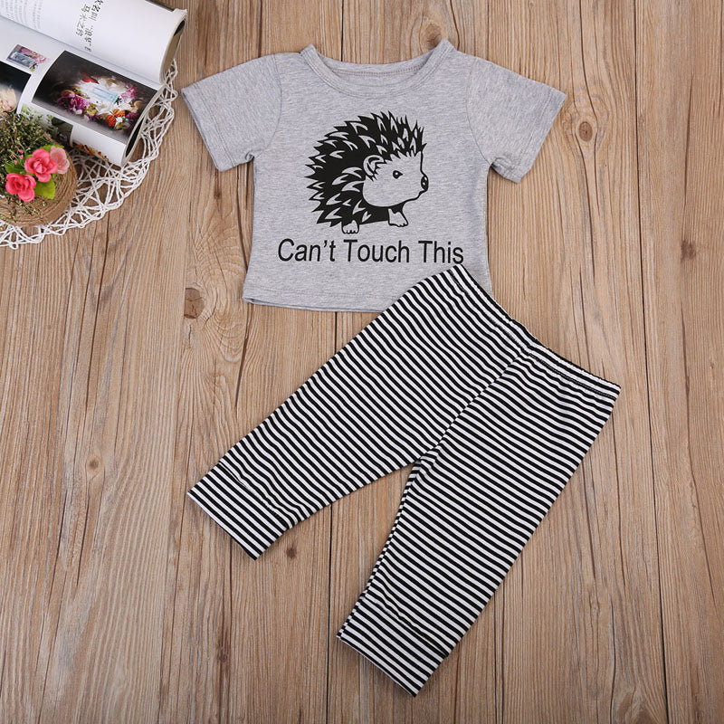 Can't Touch This Porcupine T-Shirt and Long Pants Set - Clothing Sets - baby-petite