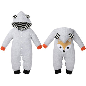 Who Let The Fox Out Hooded Romper Costume