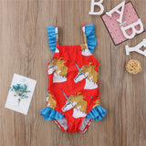 The Fiery Red Unicorn Swimsuit - Swimsuits - baby-petite
