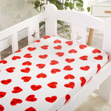 Hearty Heart Baby Bed Sheet - Bed Sheets - baby-petite