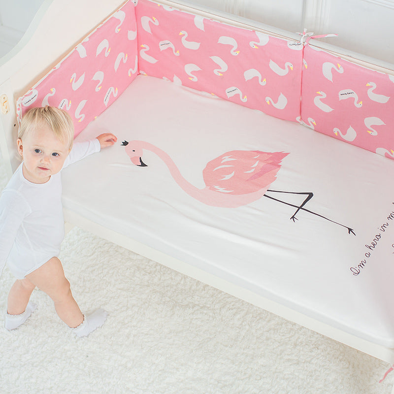 Pink Flamingo Hero Baby Bed Sheet - Bed Sheets - baby-petite