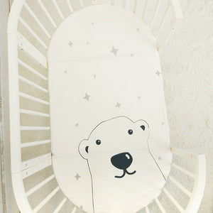 Twinkling Bear Baby Bed Sheet - Baby Petite - Bed Sheets