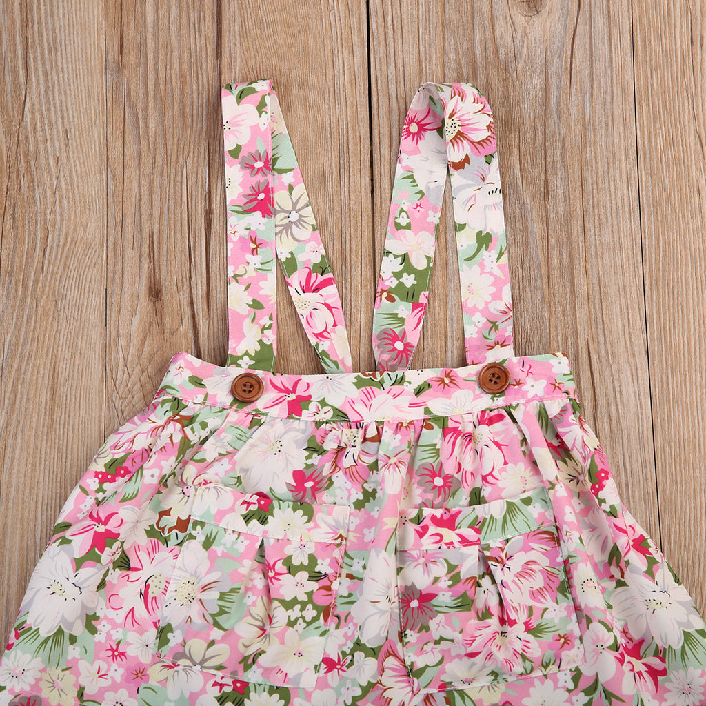 Vintage Sunday Overall Floral Dress