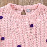 Little Pom Pom Dot Knit Sweater