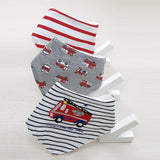 Fire Engine Baby Bib Set (3 Piece Set) - Bibs - baby-petite