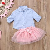 Delicate Marge Striped Shirt and Tutu Set - Clothing Sets - baby-petite