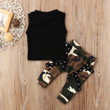 Stuntin Is My Forte Sleeveless T-Shirt and Long Pants Set - Clothing Sets - baby-petite