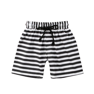 Chic Striped Drawstring Summer Beach Shorts - Shorts - baby-petite