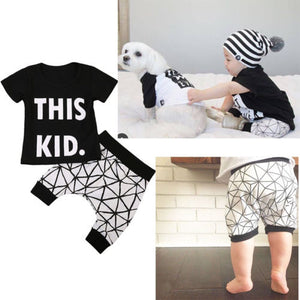 This Kid T-Shirt and Short Pants Set - Baby Petite - Clothing Sets