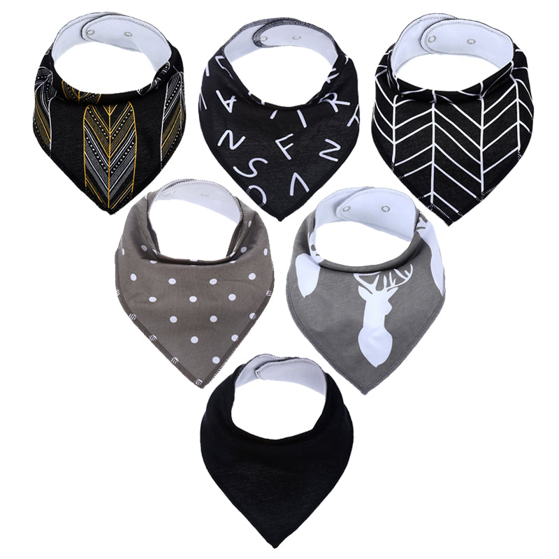 Autumn Feels Bandana Bib Set (5 Piece Set) - Kids Petite - Baby & Kids Clothing
