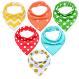 Cuty Patterns Bandana Bib Set (5 Piece Set) - Bibs - baby-petite