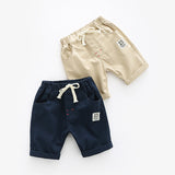 Rugged Casual Draw String Cotton Knee Length Shorts - Shorts - baby-petite