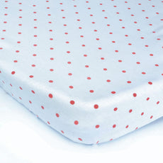 Red Polka Dots Baby Bed Sheet