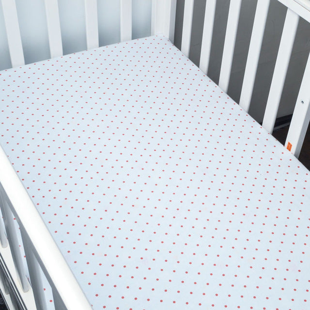 Red Polka Dots Baby Bed Sheet - Kids Petite - Baby & Kids Clothing