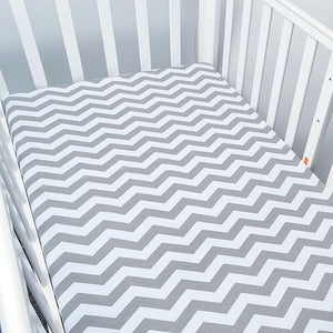 Gray Monochromatic Waves Baby Bed Sheet - Kids Petite - Baby & Kids Clothing