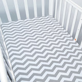 Gray Monochromatic Waves Baby Bed Sheet - Bed Sheets - baby-petite