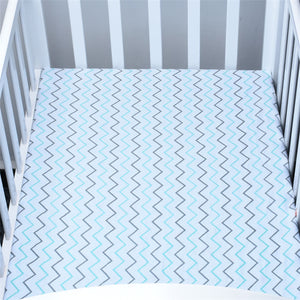 Wavy Blue Hendrick Baby Bed Sheet - Baby Petite - Bed Sheets