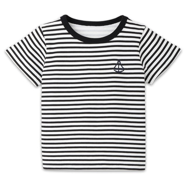 Little Sailor Striped Casual T-Shirt
